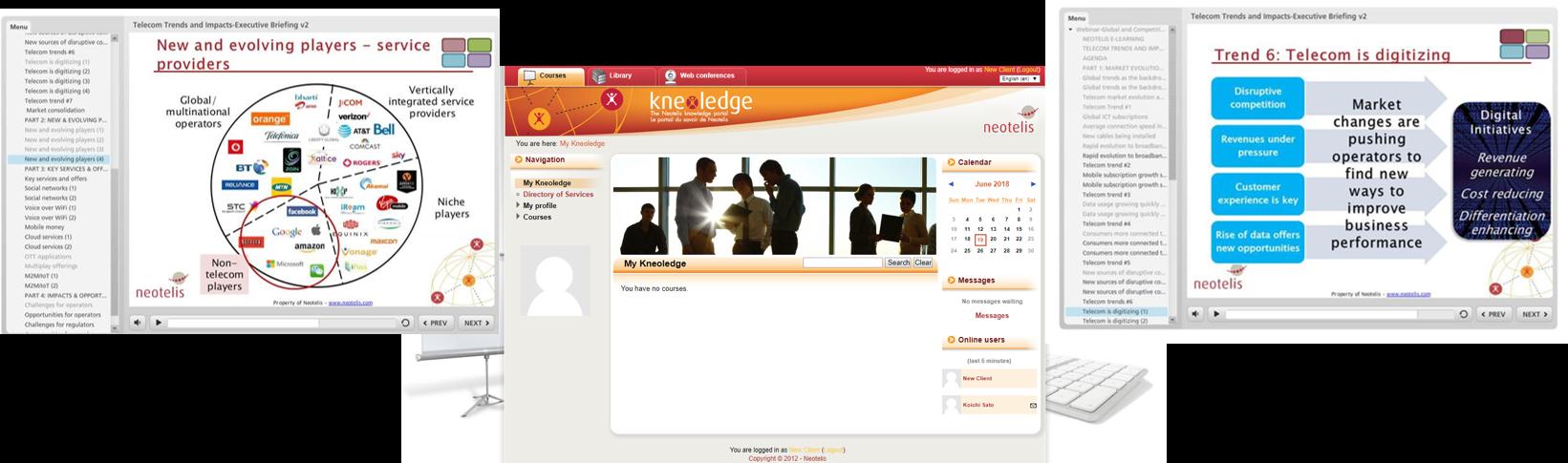 online learning portal graph